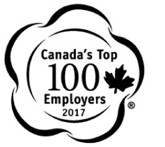Canada's Top 100 Employers 2018 badge.