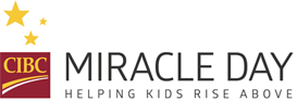 CIBC logo. Miracle Day. Helping kids rise above