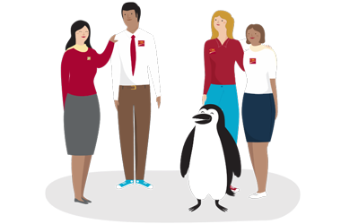 Percy Penguin and CIBC employees