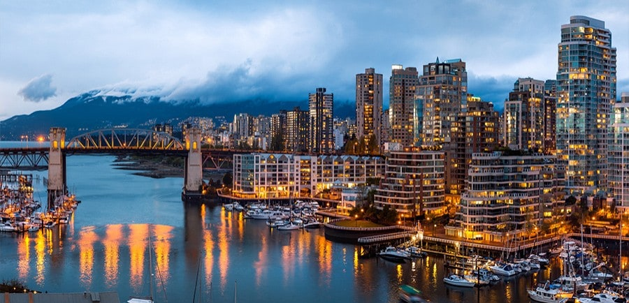 A view of the Vancouver skyline