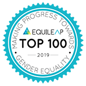 Equileap Top 100 in gender equality 2019 logo