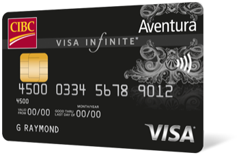 An image of a CIBC Aventura Visa Infinite Card.