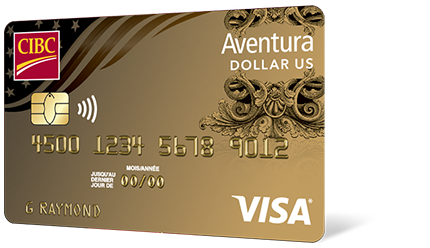 La carte Aventura Or CIBC Visa en dollars US