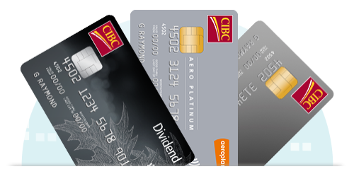 Three CIBC credit cards