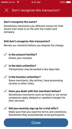 Checklist for helping recognize a transaction