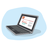 CIBC Online Banking on laptop