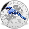 Colourful songbirds of Canada coin