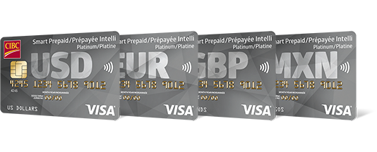 four c i b c smart prepaid travel visa cards - What Prepaid Card Can Be Used Internationally