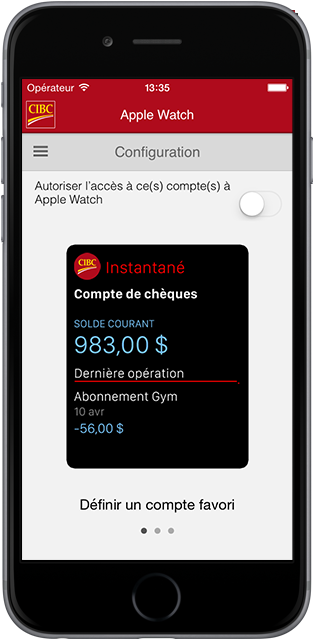 L'Apple Watch affichant la configuration sur un téléphone intelligent