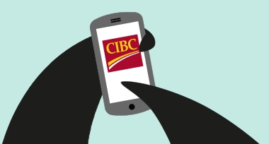 Percy Penguin visits the CIBC Mobile Banking App