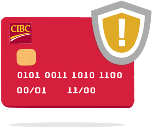 CIBC card and shield
