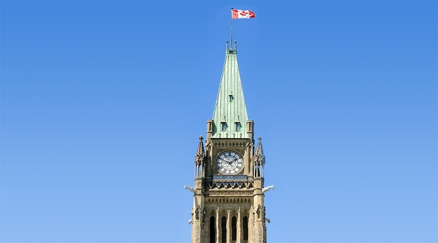 The Canadian Parliament's Peace Tower.