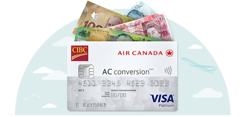 CIBC Air Canada AC conversion Visa Prepaid Card